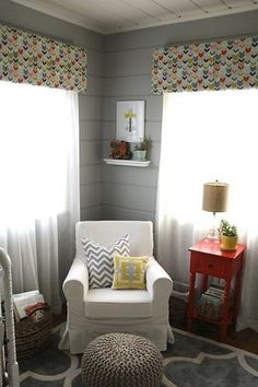 Love the arrows on the valances and the chair.