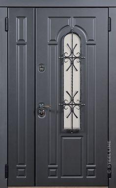Usa dubla de exterior casa modelul MADRID/ Exterior metallic door for house. Cumpara usa de intrare in casa in Romania.  #dveri #door #metallicdoor #exteriordoor #entracedoor #home Interior Door Styles, Interior Design, 3 Bedroom Bungalow, Driveway Gate, Madrid, Tall Cabinet Storage, Facade, Doors, Houses