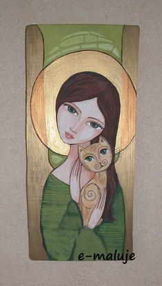 My princess 🌻 😍😘😍😘😍😘🌻🌻🌻🌻🌻🌻🌻🌻 Mini Toile, Abstract Face Art, Mexico Art, Cow Art, Black And White Painting, Catholic Art, Angel Art, Sacred Art, Texture Art