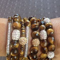 """These Lucky Tiger Eye assorted bracelets are original handcrafted & designed by Tara's Earthly Creations (each """"peace"""" sold seperately) <3"""