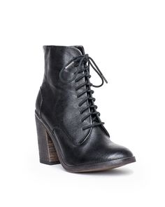 Erin black leather boot
