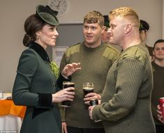 The Duke and Duchess of Cambridge are honouring soldiers from the Irish Guards on St Patrick's Day in Hounslow, West London, before travelling to France for a two-day Brexit charm offensive.