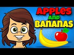 Apples and Bananas with Lyrics – Vowel Songs – Kids Songs by The Learning Statio… - Kindergarten Phonemic Awareness Kindergarten, Kindergarten Songs, Preschool Music, Preschool Learning, Phonological Awareness, Silly Songs, Fun Songs, Vowel Song, Action Songs