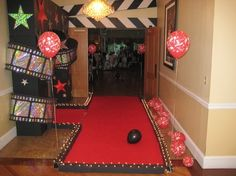movie party red carpet lights