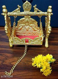 Pooja Needs  Laddu Gopal Swing Palana Krishna Jhula, Standard Size, Golden Pack: Pack of 1 Country of Origin: India Sizes Available: Free Size   Catalog Rating: ★4.2 (746)  Catalog Name: Designer Pooja Samagri CatalogID_1203294 C128-SC1315 Code: 243-7475341-618