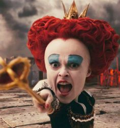 """Off with her head!"" - Helena Bonham Carter as The Red Queen"