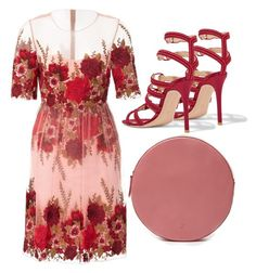"""Roses"" by cherieaustin ❤ liked on Polyvore featuring Notte by Marchesa and Gianvito Rossi"