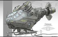 Vehicle design (colossus) by JonathanDufresne.deviantart.com on @DeviantArt