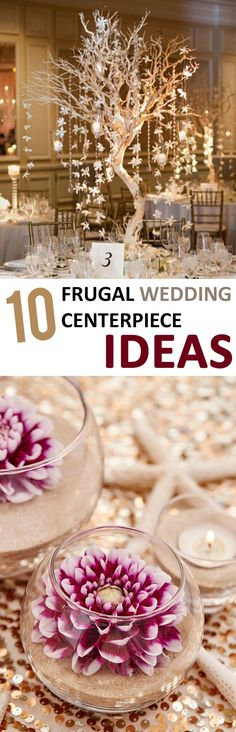 Save some money and make these fantastic wedding centerpieces!