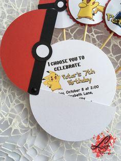 10 Pokemon Birthday Invitations Pokemon Party Pokeball