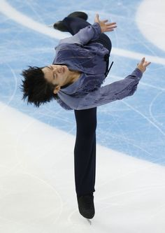 Takahiko Kozuka of Japan performs in the men's short program at the ISU Grand Prix of Figure Skating Rostelecom Cup in Moscow, Russia, Friday, Nov. 9, 2012.