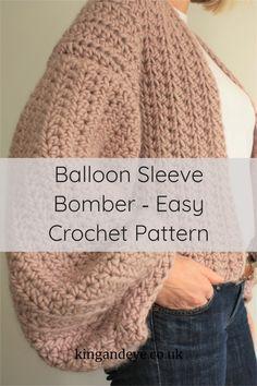 Crochet Jumper Pattern, Easy Crochet Patterns, Knitting Patterns, Chunky Crochet, Double Crochet, Knit Crochet, Crochet Crafts, Crochet Projects, Crochet Fashion
