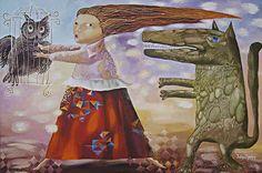 Canvas Art Print Artwork for Children children's decor by dyuminart, $65.00