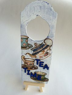 Hand painted & decorated door sign £7.49