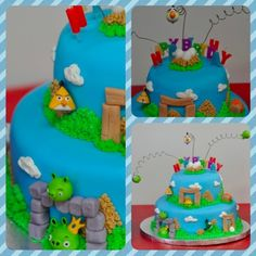 Art another angry bird cake angry-bird-birthday-party