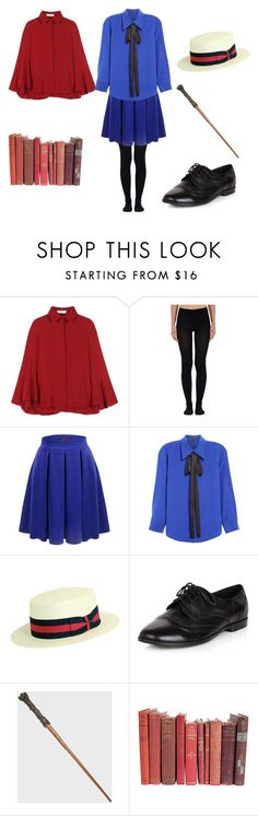 """""""Women's Ilvermorny Uniform"""" by coookietron on Polyvore featuring Valentino, Wolford, Doublju, Marc Jacobs, Scala and New Look"""
