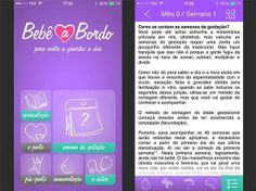 App Bebê a Bordo no iPhone