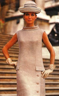 1968 Model is wearing a creation by Sybil Connolly