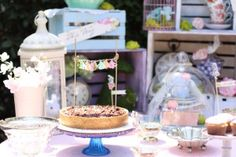 Cake from a Shabby Chic Alice in Wonderland Baby Shower on Kara's Party Ideas | KarasPartyIdeas.com (8)