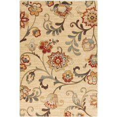 Arabesque Beige and Gold Rectangular: 1 Ft 10 In x 2 Ft 11 In Rug