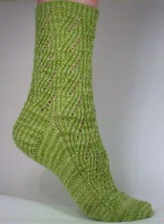 Whitknits.com--Nancy Whitman--Green Goddess Socks (Cuff Down)