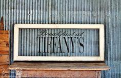 Antique Window Sign ~ via Knick of Time @ knickoftimeinteriors.blogspot.com