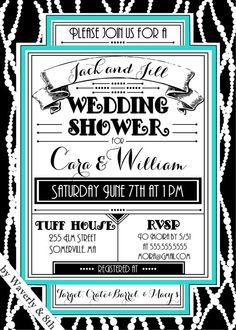 DIY Printable Couples Wedding Shower Invite by Waverlyand8th, $15.00