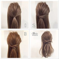 Messy and Dressy Updo Up Hairstyles, Pretty Hairstyles, Wedding Hairstyles, Honey Brown Hair, Hair Arrange, Hair Setting, Stylish Hair, Mi Long, Hair Videos