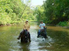 Missouri Trail Rides water