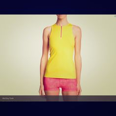 Bright yellow workout top. Workout top Roxy Tops Tank Tops
