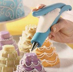 EQLEF® Kit Cuisine gâteau Décoration / Décoration Pen y compris 1 décoration stylo + 4 décoration sacs + 4 pointes de forme defferent + 2 coupleurs