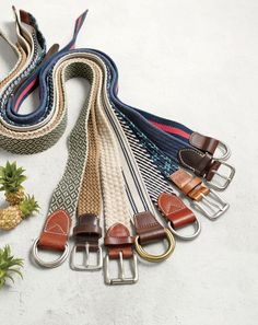 Inspired by classic seafaring styles, these J.Crew men's braided belts are for the guy who wants to look like he knows his port from his starboard.