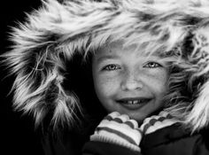 Expressive people portraits in black and white