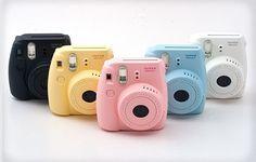 Fujifilm Instax Mini 8 Pink Black Blue Yellow White Grape Raspberry Fuji Instant Camera with FREE SHIPPING
