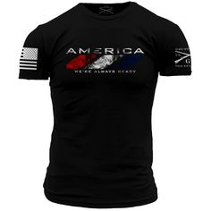 WAR T-Shirt - Grunt Style Military Men's Black Tee Shirt. Details: - Black T-Shirt - Ultra comfortable, soft, and light weight - 100% Cotton - Flag and Logo on the sleeves - Made in the USA If you are