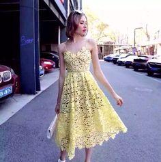 Aliexpress.com: Compre 2016 chegam Novas flor amarela vestido de renda de confiança Vestido de casamento do laço do vintage fornecedores em spamy Store