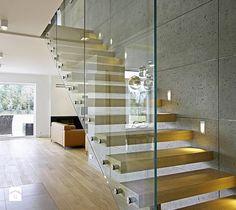 Schody, styl minimalistyczny - zdjęcie od DOMY Z WIZJĄ - nowoczesne projekty domów
