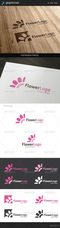 Flower EPS Logo  Template • Only available here ➝ http://graphicriver.net/item/flower-logo/8128530?ref=pxcr