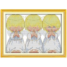 Wholesale Needlework,Stitch,11CT 14CT Cross Stitch,Sets For Embroidery Kits,The Pray Little Angels Counted Cross-Stitching