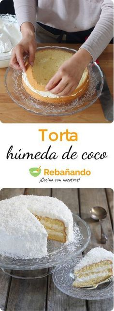 ¡Perfecta para la merienda o cumpleaños! Sweet Recipes, Cake Recipes, Snack Recipes, Dessert Recipes, Coconut Recipes, Amazing Cakes, Love Food, Cupcake Cakes, Cupcakes