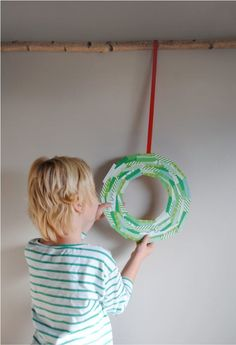 If you're not careful, you and your kids will get so carried away that you'll end up filling your whole house with DIY Christmas wreaths. With this simple Wintergreen DIY Paper Wreath, getting carried away gets even easier. Christmas Crafts For Kids, Christmas Diy, Christmas Wreaths, Toddler Christmas, Christmas Ornaments To Make, Holiday Crafts, Merry Christmas, Toddler Crafts, Preschool Crafts