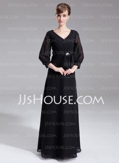 Mother of the Bride Dresses - $138.99 - A-Line/Princess V-neck Floor-Length Chiffon Mother of the Bride Dress With Beading (008006529) http://jjshouse.com/A-Line-Princess-V-Neck-Floor-Length-Chiffon-Mother-Of-The-Bride-Dress-With-Beading-008006529-g6529
