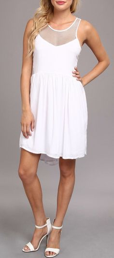 Mesh Mix Baby Doll Dress that would look great long