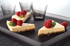 You must try our Greek Yogurt Cheesecake! Neufchatel cheese and Greek-style yogurt give this luscious vanilla cheesecake its rich and creamy texture. Best Chocolate Cheesecake, Salted Caramel Cheesecake, Pumpkin Cheesecake, Easy Cheesecake Recipes, Cheesecake Bars, Dessert Recipes, Classic Cheesecake, Pie Bars, Yogurt Recipes