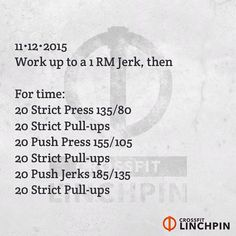No rack if you can, but use one if you must. Post times to comments. Scale as needed. #BrutallyElegant #CrossFitLinchpin #CrossFit
