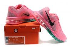 huge discount d8500 9ab47 Nike Air Max 2014 Air Cushion Running Trainers Womens Pink Aqua Blue With  Black Logo