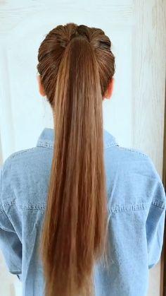 Hairdo For Long Hair, Bun Hairstyles For Long Hair, Diy Hairstyles, Front Hair Styles, Medium Hair Styles, Hair Style Vedio, Hair Tutorials For Medium Hair, Hair Videos, Life Hacks Hair