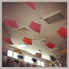 kites on the ceiling