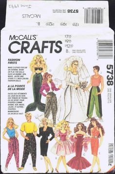 Free Copy of Pattern - McCalls 5738 I love this pattern for the murmaid tail.  I have it and have used it often.  Makes great gift for little girls.