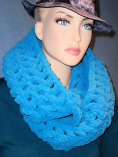 Hey, I found this really awesome Etsy listing at https://www.etsy.com/listing/224555137/crochet-infinity-scarf-plush-turquoise